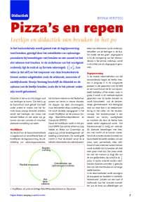 Pizza's en repen, rekendidactiek breuken in het PO (2011)